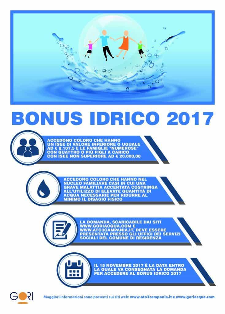 Bonus idrico 2017 ultimi giorni per presentare la domanda for Bonus sociale 2017