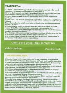 Sinistra Italiana - Trasporti, Cambiamo aria - 02