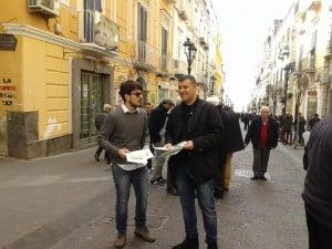 Sinistra Italiana - Trasporti, Cambiamo aria - Volantinaggio Torre del Greco