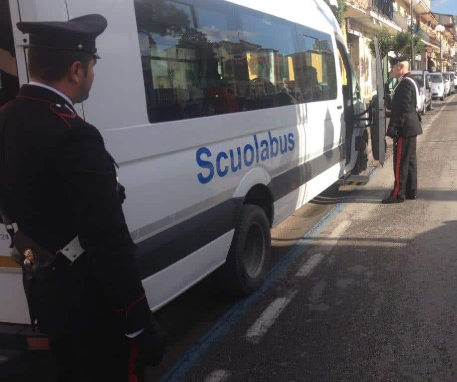 carabinieri Casoria controlli scuolabus