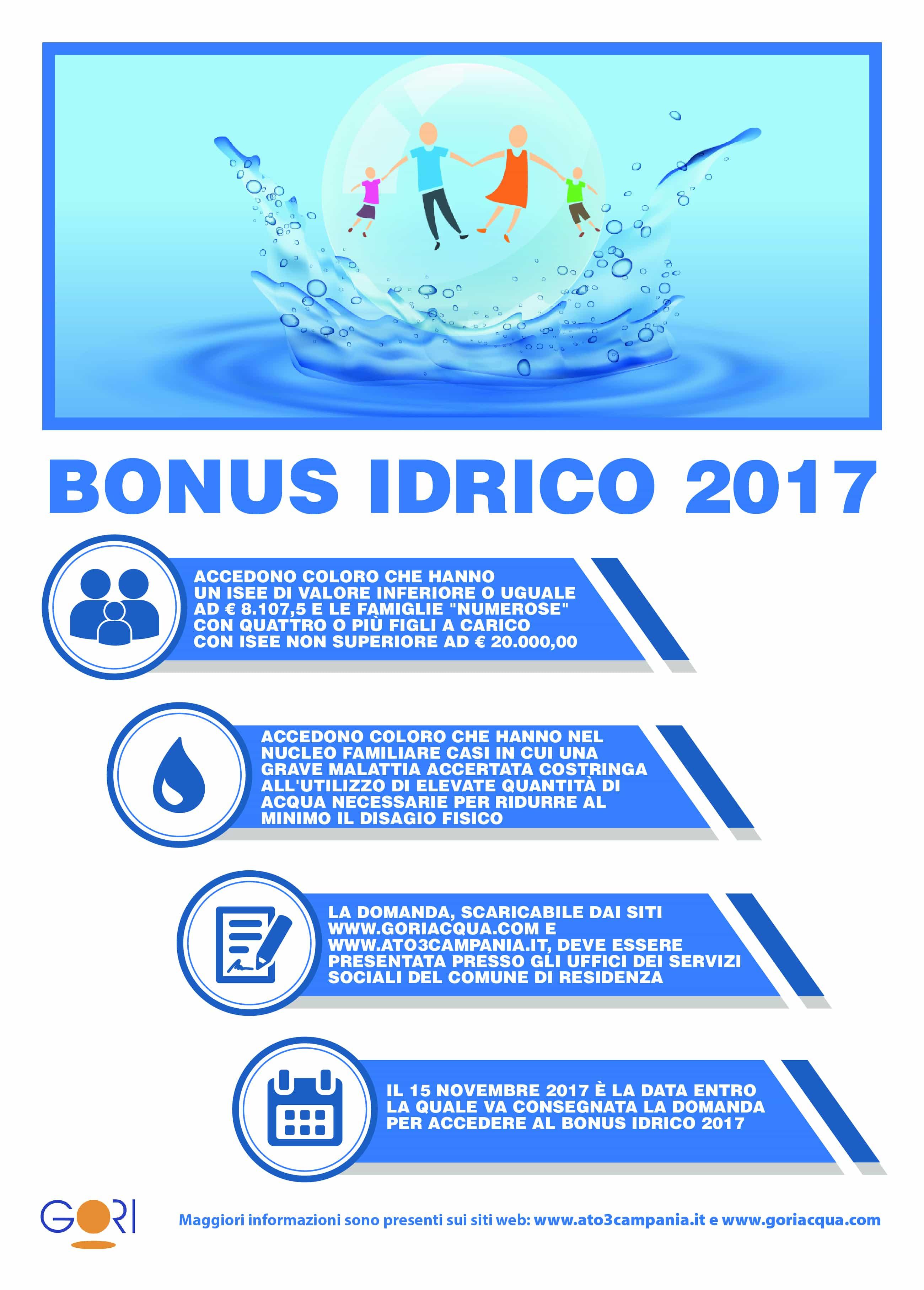 Gori Bonus Idrico 2017