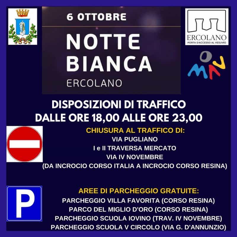 disposizioni traffico Notte Bianca Ercolano