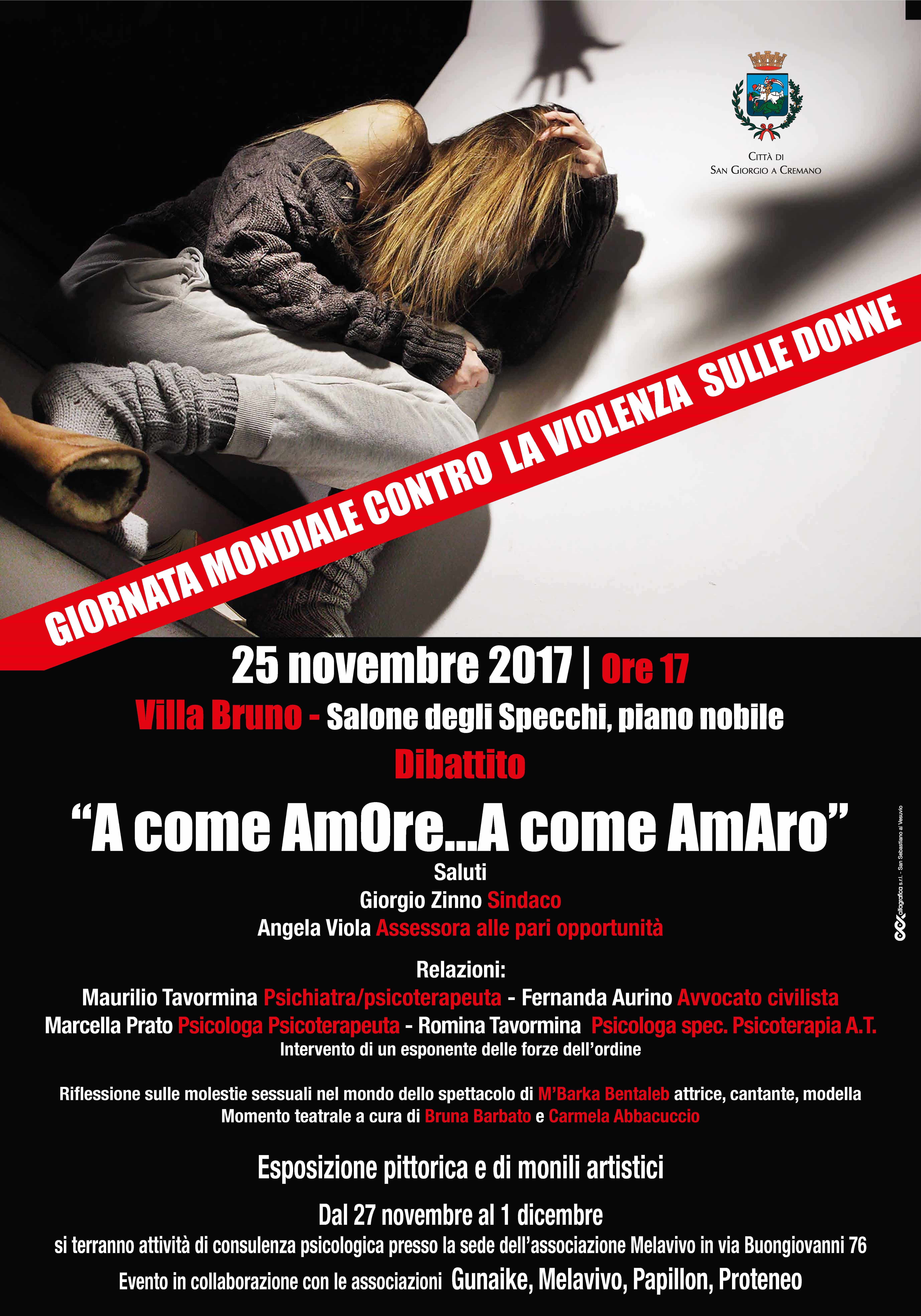 giornata violenza sulle donne 2017 San Giorgio
