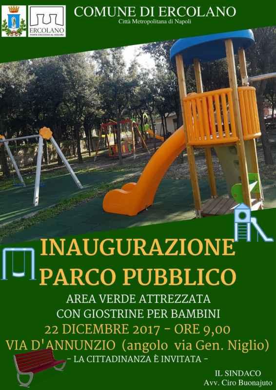 inaugurazione parco pubblico Ercolano