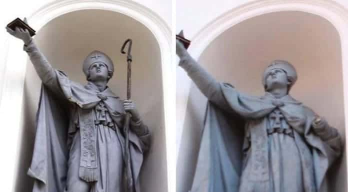 statua san gennaro piazza santa croce