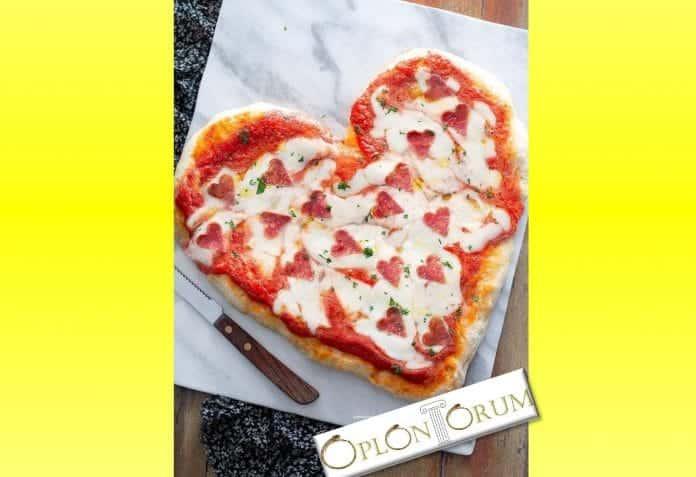 un cuore di pizza