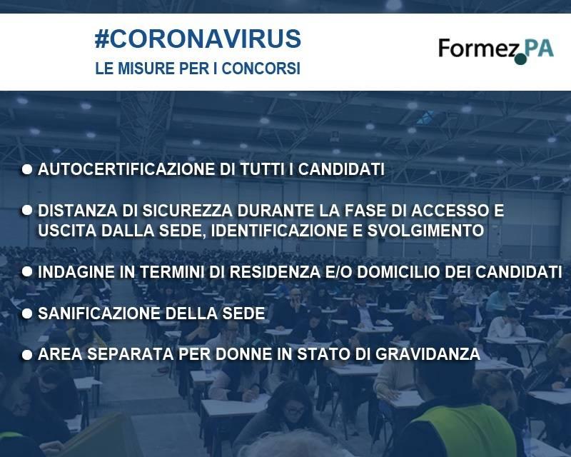 coronavirus concorsi