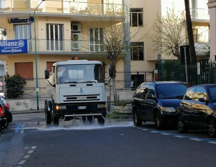 sanificazione strade torre del greco