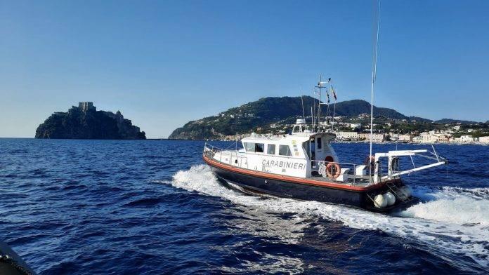 carabinieri in mare ischia